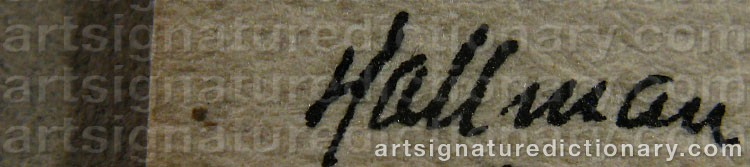 Signature by Adolf HALLMAN
