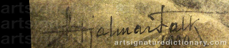 Signature by Hjalmar FALK