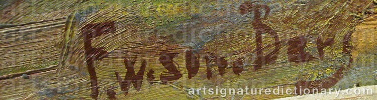Signature by Folke 'F W-Son' WILHELMSSON-BERG