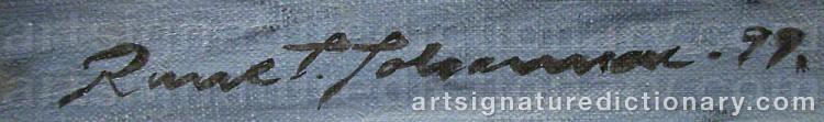 Signature by Rune JOHANSSON