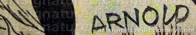 Signature by Hans ARNOLD