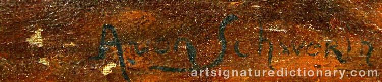 Forged signature of Amalia Ulrika Sofia Von 'Amelie' SCHWERIN