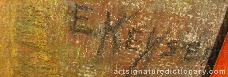 Signature by Elisabeth KEYSER