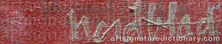 Signature by Gösta NORDBLAD
