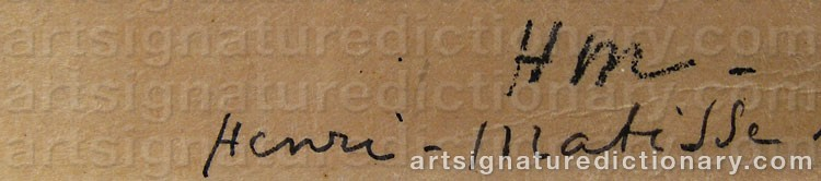 Signature by Henri MATISSE