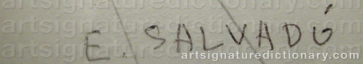 Signature by Ernest SALVADO