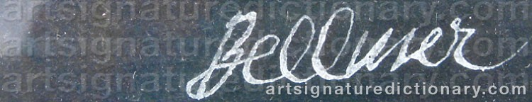 Signature by Hans BELLMER
