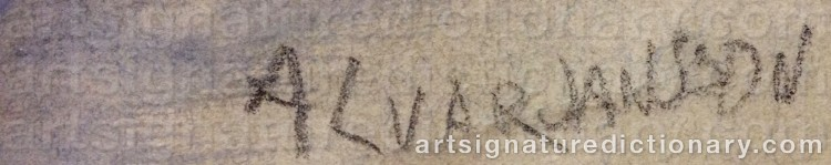 Signature by Alvar JANSSON