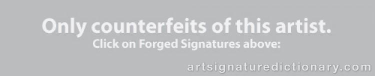 Signature by John Erik 'E. Sandsjö' JOHANSSON