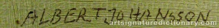 Signature by Albert JOHANSSON