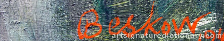Signature by Bo BESKOW