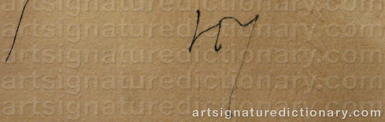Signature by Henri MICHAUX