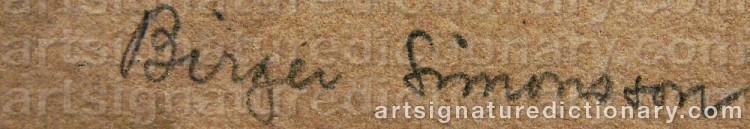Signature by Birger SIMONSSON