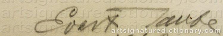 Signature by Evert TAUBE