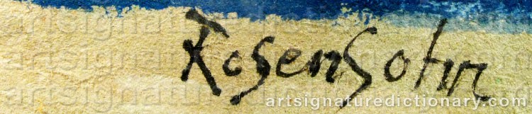 Signature by Lennart ROSENSOHN