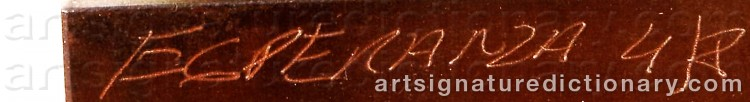 Signature by Esperanza LOPEZ-MONTOYA