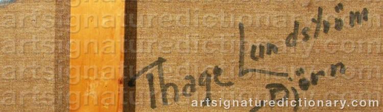 Signature by Thage 'T Björn' LUNDSTRÖM-BJÖRN