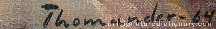 Signature by Harry THOMANDER