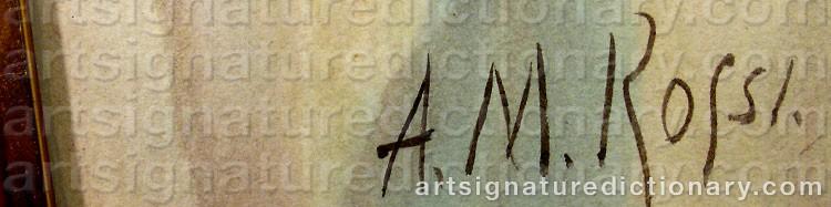 Signature by Alberto María ROSSI