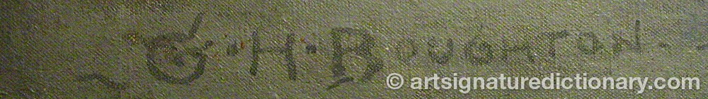 Signature by George Henry BOUGHTON