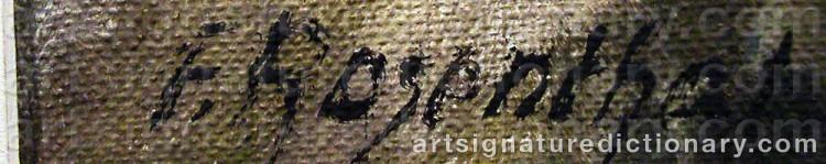 Signature by Fritz Von ROSENTHAL