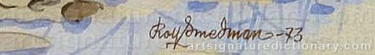 Signature by Rolf SMEDMAN