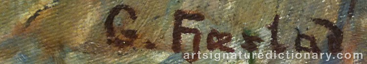 Signature by Gustaf FJÆSTAD