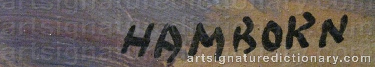 Signature by Axel HAMBORN