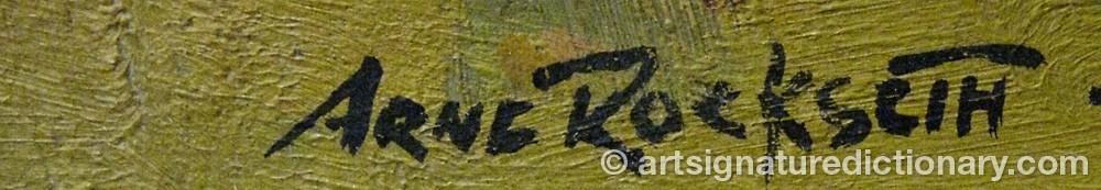 Signature by Arne ROCKSETH