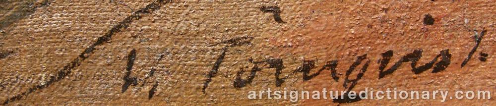 Signature by Vilhelm TÖRNQVIST