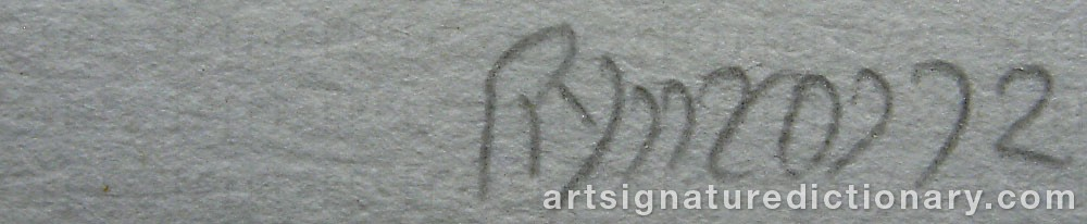 Signature by Robert RYMAN