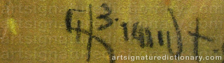 Signature by Carl BRANDT