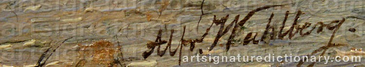 Signature by Alfred WAHLBERG