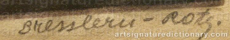 Signature by Norbertine Von BRESSLERN-ROTH