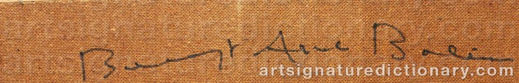 Signature by Bengt Arne BOLIN