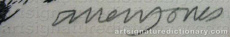 Signature by Allen JONES