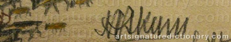 Signature by Nils Nilsson (Sami Artist) SKUM