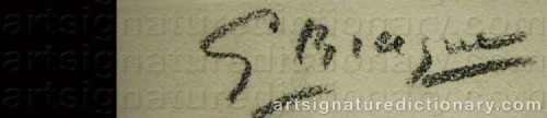 Signature by: BRAQUE, Georges