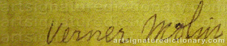 Signature by Verner MOLIN