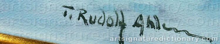 Signature by Tage Rudolf AHLM