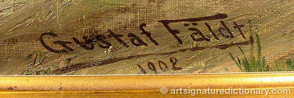 Signature by Gustaf FÄLDT