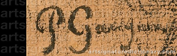 Signature by Paul GAUGUIN