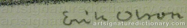 Signature by Erik OLSON