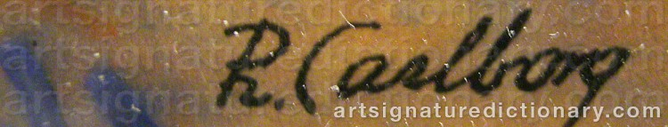Signature by Rudolf CARLBORG