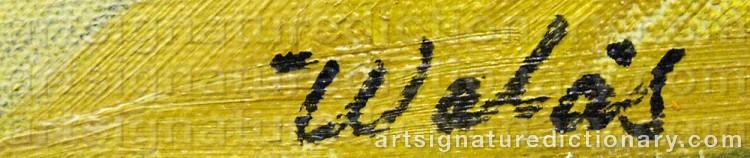 Signature by Herbert WALÅS