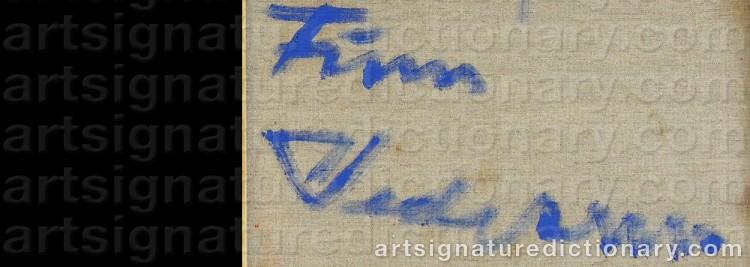 Signature by Finn PEDERSEN