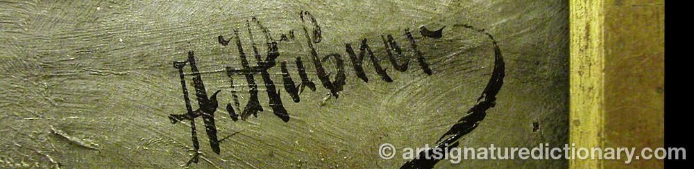 Signature by Anton HÜBNER