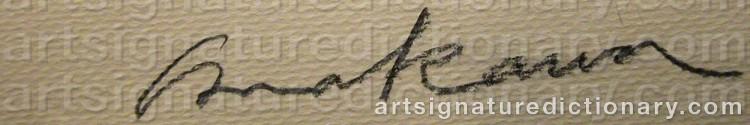 Signature by Shusaku ARAKAWA