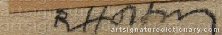 Signature by Ragnar Von HOLTEN