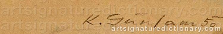 Signature by Karl Josef GUNSAM